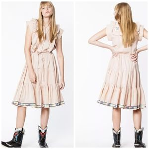Zadig & Voltaire Romax Voile Embroidered Dress